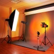 Photo studio with lighting equipment — Stock Photo #38785057