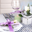 Table arrangement in restaurant — Stock Photo #38811143