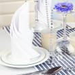 Table arrangement in restaurant — Stock Photo #38811163