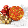 Composition of Christmas balls isolated on white — Stock Photo #38811769