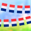 Garland of flags on bright background — Stock Photo #38814929