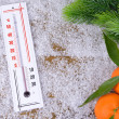 Stock Photo: Thermometer in snow close-up