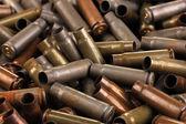 Shotgun cartridges close-up background — Stock Photo
