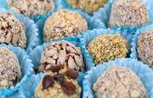 Zestaw cukierki czekoladowe, z bliska — Zdjęcie stockowe