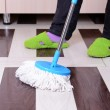 House cleaning with mop — Stock Photo #38822491