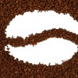 Instant coffee close up — Stock Photo