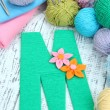 One letter of knit handmade alphabet close up — Stock Photo #38825153