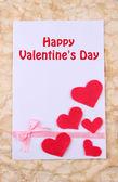 Beautiful romantic background with decorative hearts — Foto de Stock