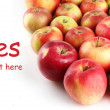 Stock Photo: Juicy red apples, isolated on white