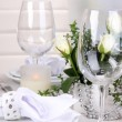 Table arrangement in restaurant — Stock Photo #39028791