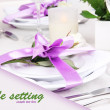 Table arrangement in restaurant — Stock Photo #39028797