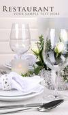 Table arrangement in restaurant — Stock Photo