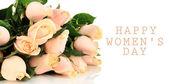 Beau bouquet de roses, isolé sur blanc — Photo