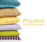 Hill colorful pillows isolated on white — Photo