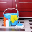 House cleaning with mop — Stock Photo #39040423