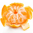 Ripe sweet tangerine, isolated on white — Stock Photo