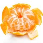 Ripe sweet tangerine, isolated on white — Stock Photo #39045787