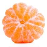 Ripe sweet tangerine, isolated on white — Stock Photo #39045837