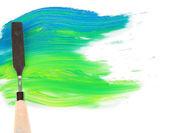 Faca paleta de pintura com tinta isolada no branco — Fotografia Stock