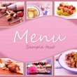 Restaurant menu — Stock Photo #39160305