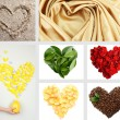 Collage of heart-shaped things — Stock Photo
