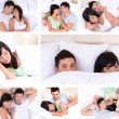 Collage of lovely couple — Stock Photo #39160947