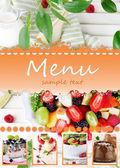 Restaurant menu — Стоковое фото