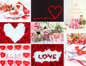 Collage of Valentine's Day — Stock Photo