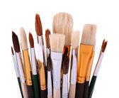 Many brushes isolated on white — Foto Stock