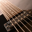 Electric guitar , close up — Stock Photo