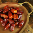 Stock Photo: Conceptual photo of Ramadfood:dates palm on tray