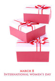 Gift boxes, isolate on white — Stockfoto