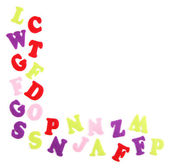 English alphabet, isolated on white — Stock Photo