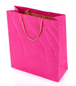 Color shopping bag, isolated on white — Foto de Stock