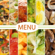 Collage of dishes for restaurant menu — Stock Photo #39432311