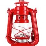 красный Керосиновая лампа, изолированные на белом фоне — Стоковое фото #39438045