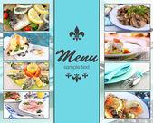 Restaurant menu — Stock Photo