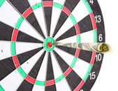 Money dart and target close up. Concept of success. — Stock Photo