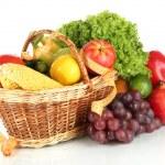 Fresh vegetables isolated on white — Stock Photo