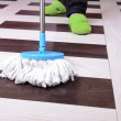House cleaning with mop — Stock Photo #39501199