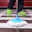House cleaning with mop — Stock Photo #39501203
