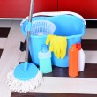 House cleaning with mop — Stock Photo #39501217