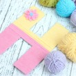 One letter of knit handmade alphabet close up — Stock Photo #39503817
