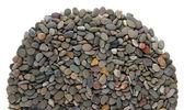 Small sea stones, isolated on white — Stock fotografie