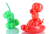 Simple balloon animal dogs, isolated on white — Stock Photo