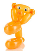 Balloon animal bear, isolated on white — Stock Photo