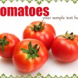 Tomatoes isolated on white — Stock Photo