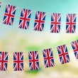 Garland of flags on bright background — Stock Photo #39531811