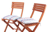 Chairs with cushions isolated on white — Stock Photo