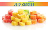 Sweet jelly candies isolated on whit — Stock Photo